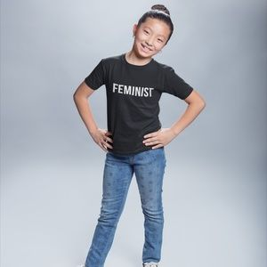 Kids Feminist T-Shirt (Sizes NB - XL Youth)